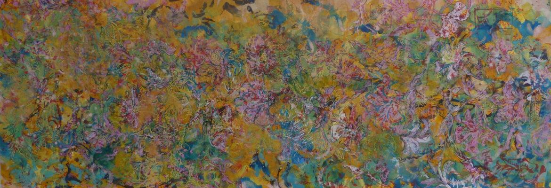 Fleurs de Jaidpur (1) peinture papier pigment de conservation le chat filant