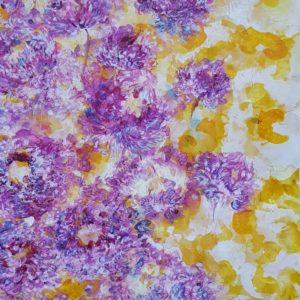 Fleurs du prunier (92,5x42,5cm)