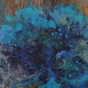 Les quatre arbres bleus (détail 3)