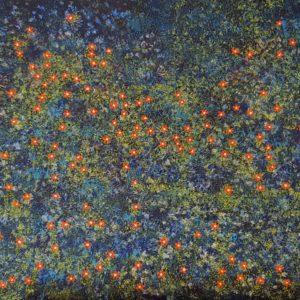 Fleurs de mouron (42x86cm)