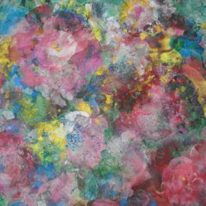 Roses trémières (détail 1)