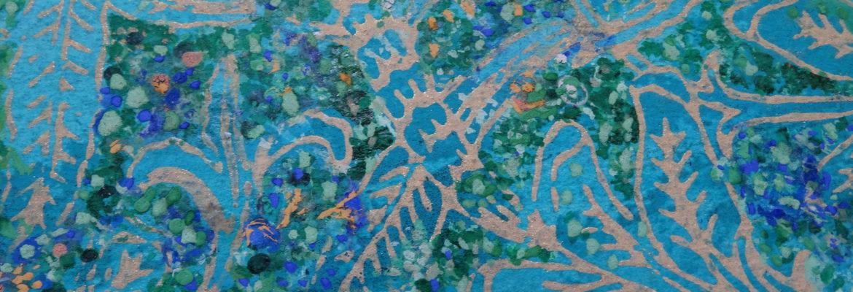 Sur les dômes du Khorossan peinture papier détail