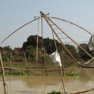Système en bambou pour pêcher les poissons