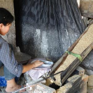 Fabrication de la feuille de riz