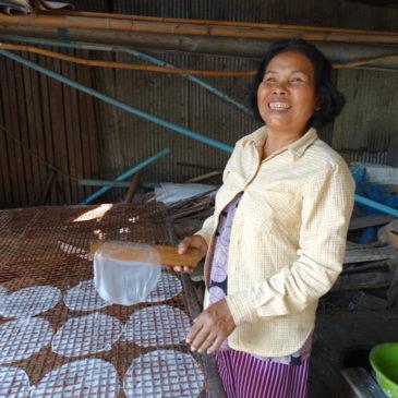 La fabrication des galettes de riz