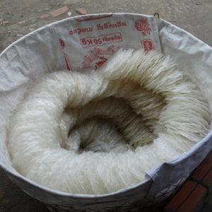 Stockage des galettes de riz