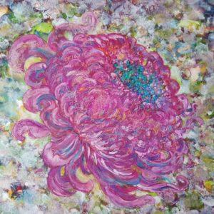 Chrysanthème 41,5 x 48,5cm
