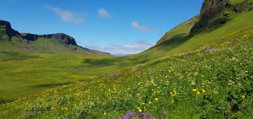Balade depuis l'église vers le mont Reynisfjall